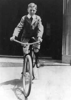 Elliott Carter on bike 1917